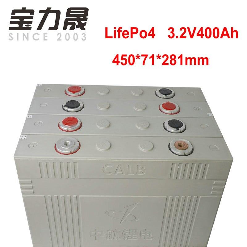 4 piezas 3,2 V 400Ah lifepo4 celda de batería no 300ah 12v400AH DIY para EV RV Paquete de batería solar de la UE US libre de impuestos UPS o FedEx