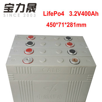 4PCS  3.2V 400Ah lifepo4 battery CELL not 300ah  12v400AH DIY for EV RV battery pack diy solar EU US TAX FREE UPS or FedEx