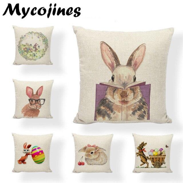 Buona Pasqua, Carina, Sorridente Del Coniglio di Coniglietto Uova di Colore Bian