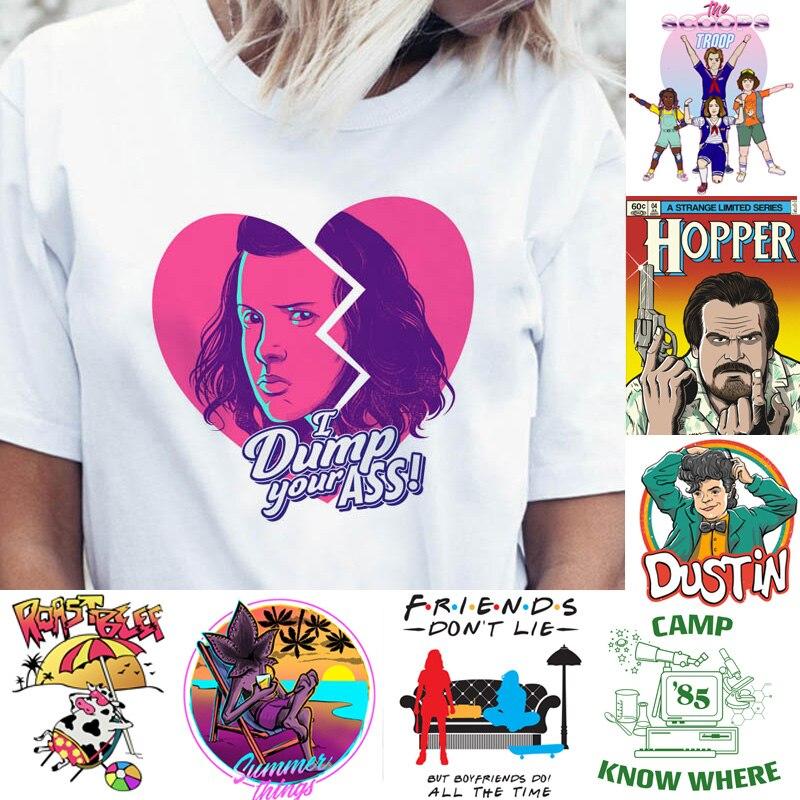 Stranger Things Season 3 T Shirt Women Funny Top Tee Eleven Dustin Shirts T-shirt 80s Graphic Female Ulzzang Tshirt TV Friends