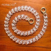 Clear transparent chains strap Acrylic plastic belt for hand