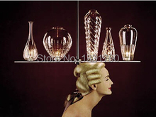 Italy lighting cicatrices de luxe crystal glass chandelier lighting designed by Philippe Starck glass bottle lamp