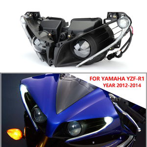 Image 5 - Motorcycle Accessories Front Headlights For Yamaha YZF R1 Headlight Lamp Head Light Housing For Yamaha YZF R1 2012 2013 2014 R1