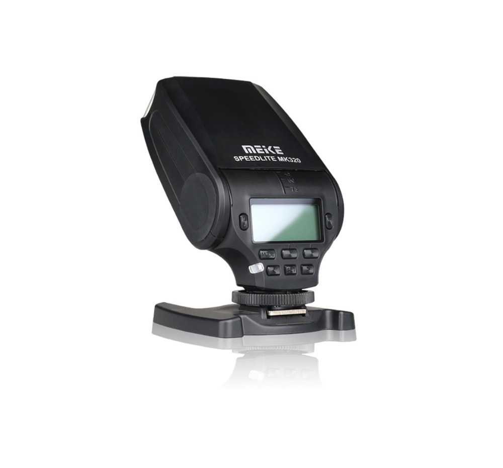 MEIKE MK320 Mini Flash TTL Speedlite Istantaneo per Panasonic Lumix DMC GF7 GM5 GH4 GH3 GF6 GX7 GM1 G6 G5 GF5 GX1 GF3 G3
