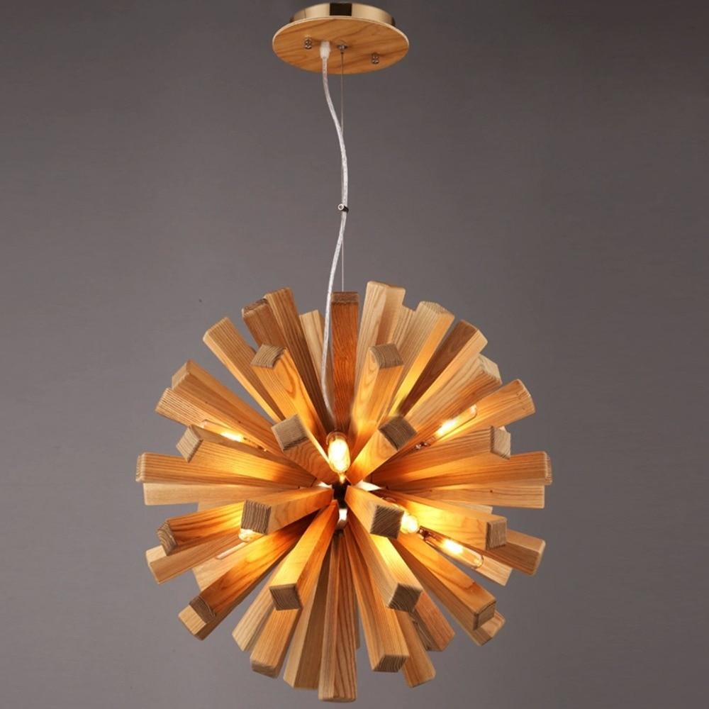 contemporary 9 helius lighting. Brief Nordic Wood Handcraft DIY Loft Pendant Light 10 Heads Dining Hall/Bar/Cafe American Country Lamp Art G9 Bulbs-in Lights From Contemporary 9 Helius Lighting