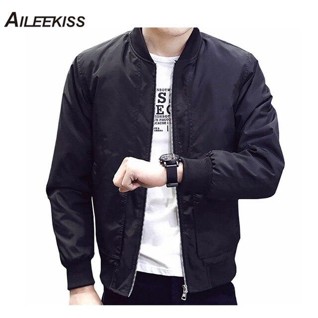 908c437eab6 2019 Spring Autumn Casual Solid Fashion Slim Bomber Jacket Men Overcoat  Baseball Jackets Men s streetwear Jacket 4xl Top XT380