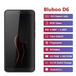 Image 3 - Bluboo D6 Pro D6 Smartphone Android 8.1 Quad core 5.5 pouces empreinte digitale 2GB RAM 16GB ROM double SIM 2700mAh batterie 720P téléphones portables