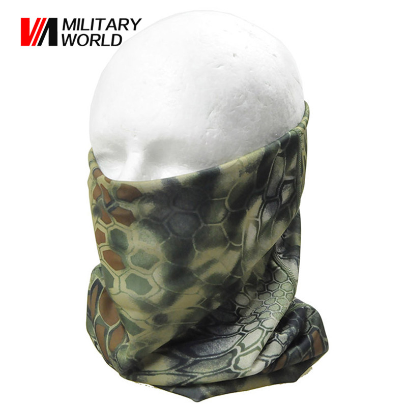 Airsoft Hunting Tactical Military Balaclava Face Mask Outdoor Sports Quick-drying Windproof Warm Hood Bike Cycling Caps Camo