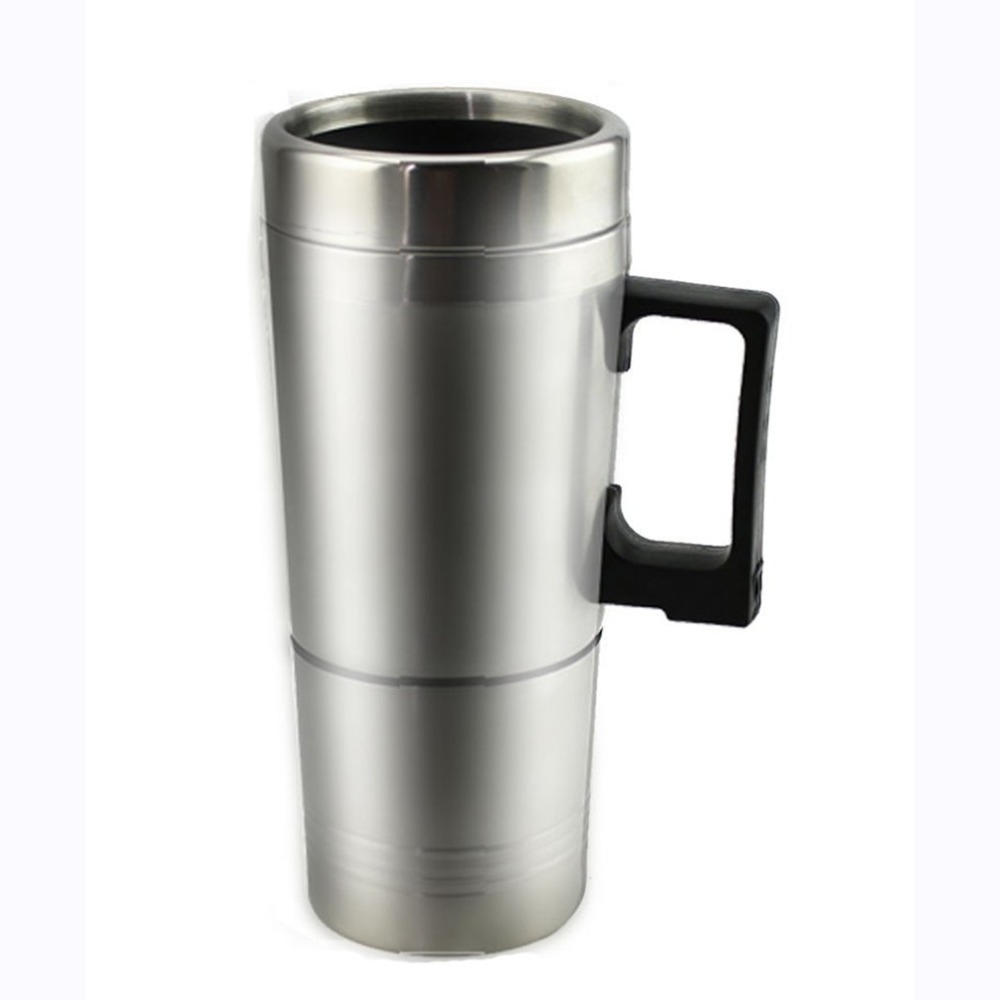 Electric Kettle 12 V Stainless Steel Thermos Heating Cup Car Auto Adapter Heated Kettle Travel Mug Auto Accessories Travel CampiElectric Kettle 12 V Stainless Steel Thermos Heating Cup Car Auto Adapter Heated Kettle Travel Mug Auto Accessories Travel Campi