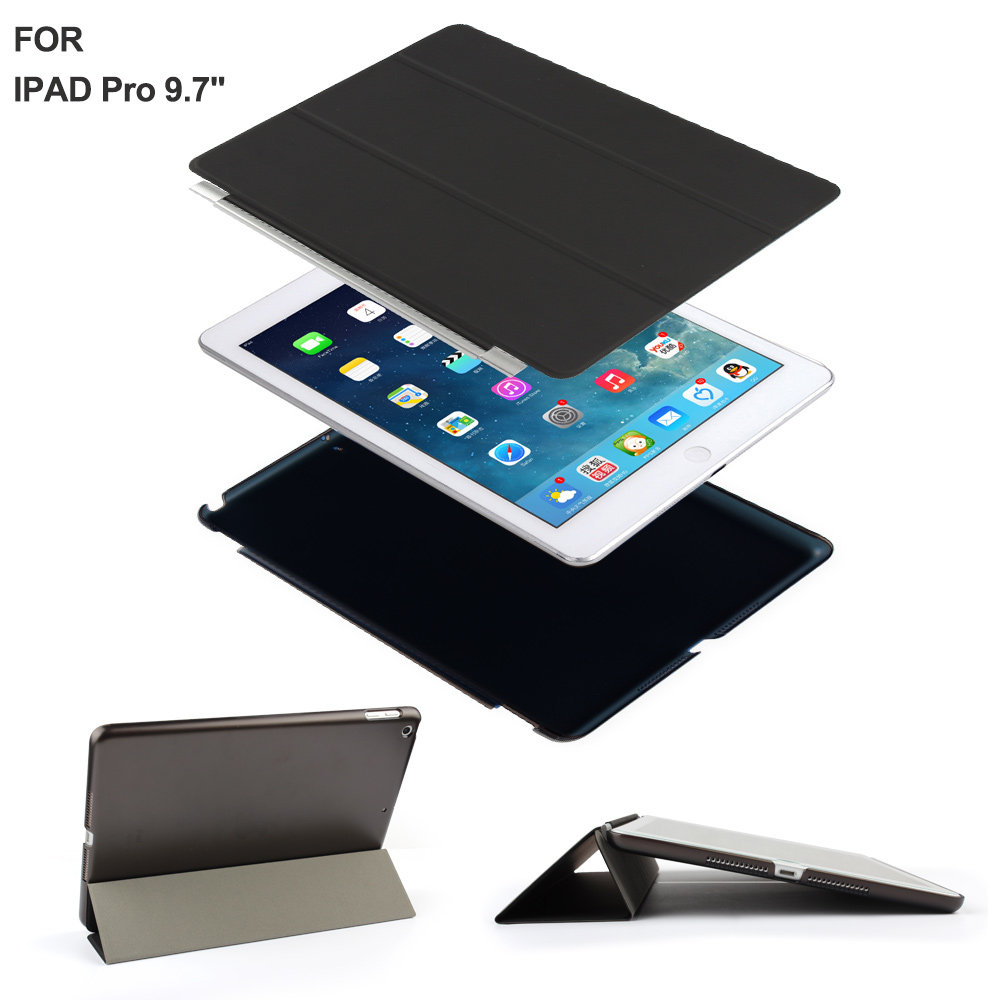 for ipad pro 9 7 smart case cover with auto sleep wake function for 9 7 inch ipad pro 2016. Black Bedroom Furniture Sets. Home Design Ideas