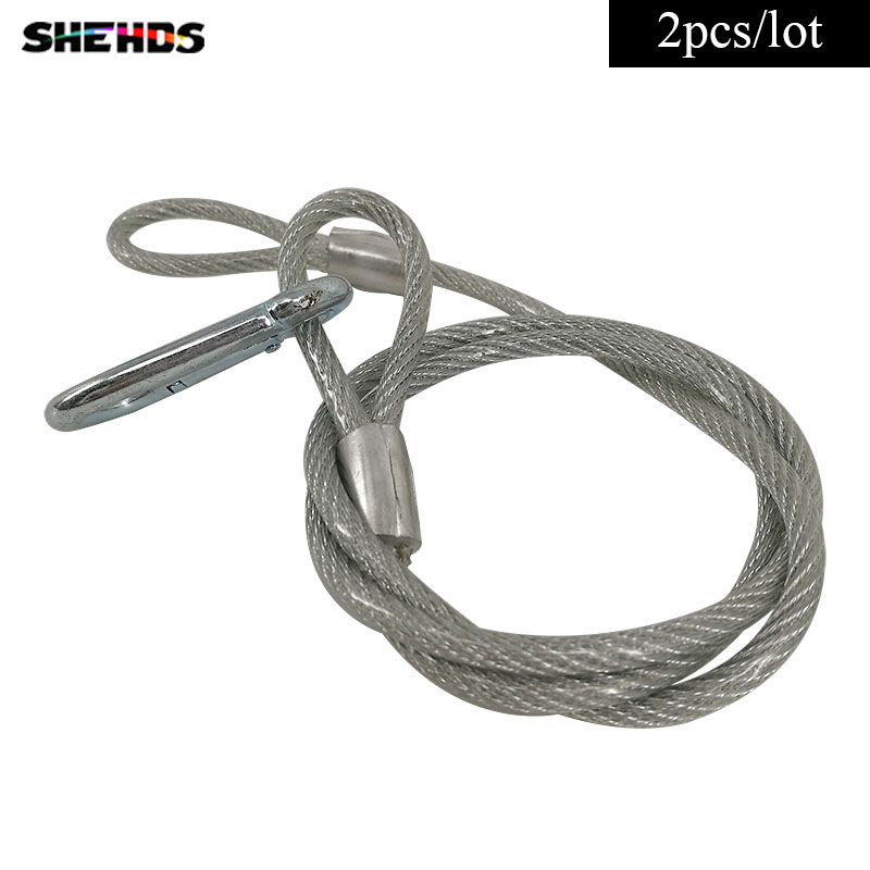 Stage Lighting Effect 90cm Stainless Steel Rope Load Bearing 40kg Xr35 Safety Ropes Security Cables For Led Par Stage Light Security Accessories