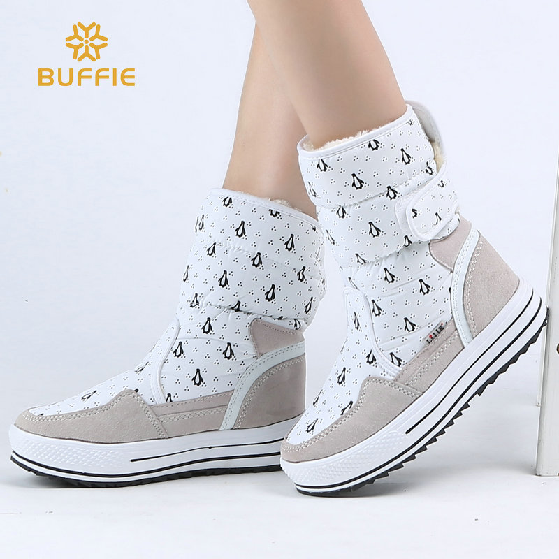 цена на Female boot Winter Shoes Women fashion warm thick fur high quality buckle style big plus size 34 to 41 free shipping easy wear