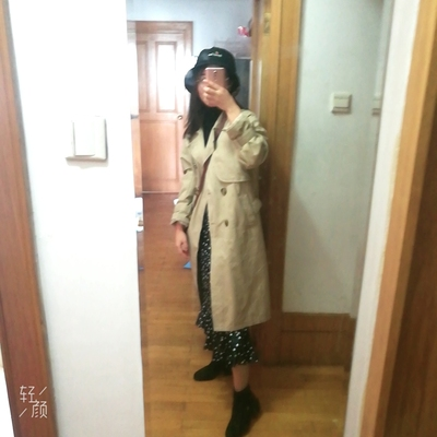 Spring And Autumn Women Fashion Brand Korea Style Waist Belt Loose Khaki Color Trench Female Casual Elegant Soft Long Coat Cloth 28