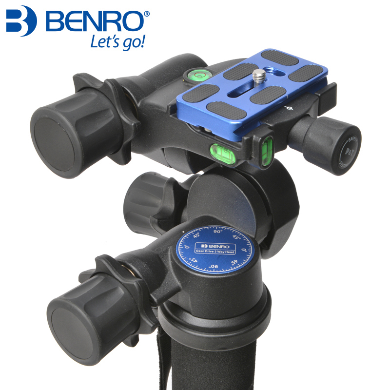 Benro GD3WH Head Gear Drive 3 Way Head Three Dimensional Heads For Camera Tripod Max Loading