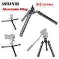 Ashanks b-12b 3/8 parafuso liga de alumínio three-legged base do suporte para monopé tripé de câmera filmadora