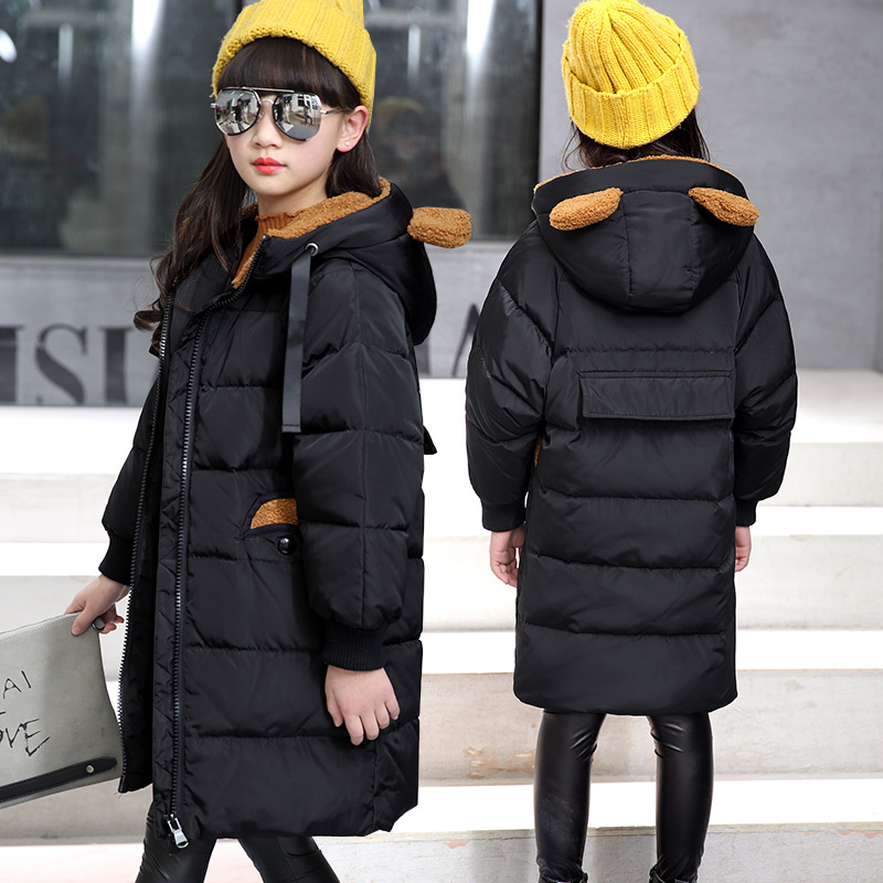 Children's Leisure Fashion Down Jacket Girls More Long Down Oveat In The Big Boys Winter Coats To Keep Warm Overcoat Down Jacket 2017 60 year old 70 grandmother jacket in the elderly mothers installed women s winter 80 elderly lady down jacket