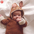 12M-4Y Baby Girls Christmas Deer Costume Cardigan Toddler Kids Boys Dot Animal Knitted Crochet Sweater Outwear Clothing 2016