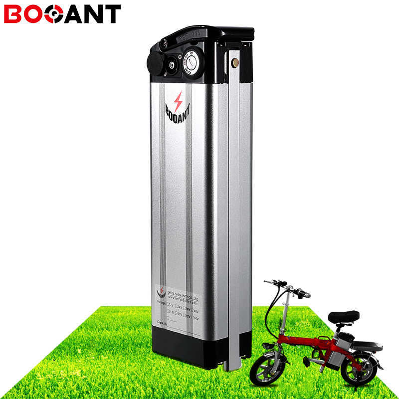 48V 20Ah 18Ah 14Ah 10Ah Silver Fish lithium battery 13S 48V electric bike battery for Sanyo 18650 cell for 250W 750W 1000W motor