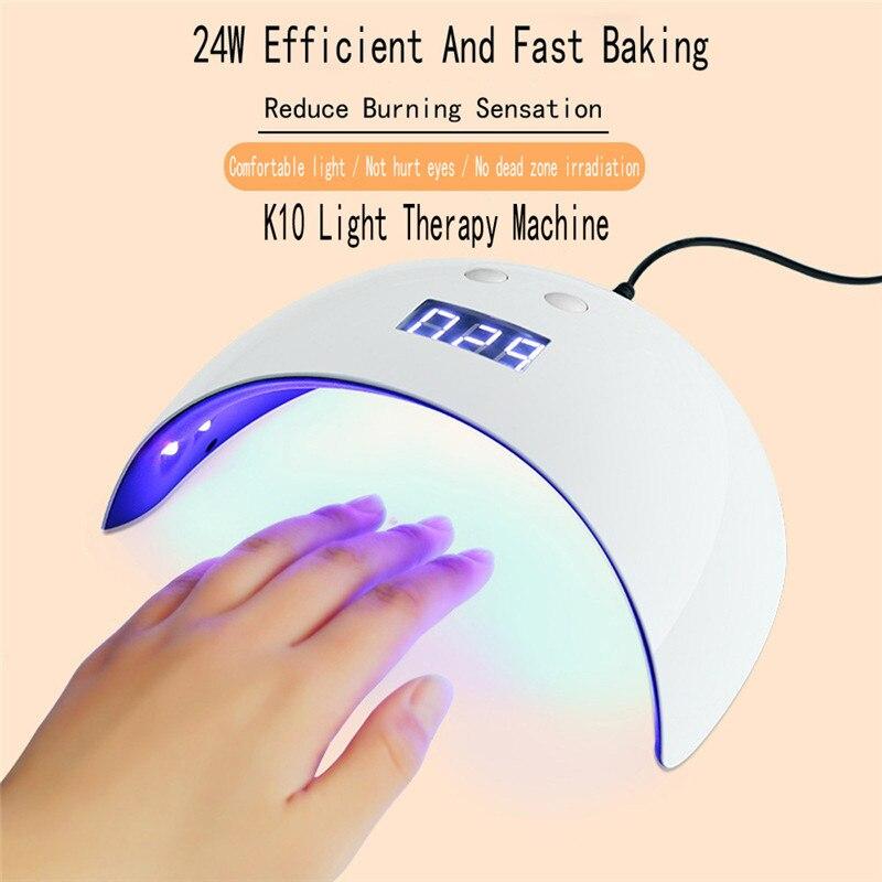 USB 24W LED Drying Curing Machine Tool UV Nail Dryers Light Lamp Polish Gel Nail Light Nail Dryers
