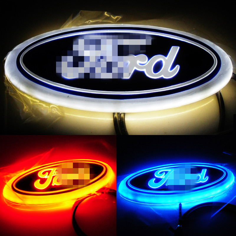 1pcs 4D Led Rear Emblem Car Logo Light for Ford Focus Mondeo Car Led Badge Bulb Car Styling car styling 5d led rear emblem logo light car badge bulb for audi q3 q5 a1 a3 tt