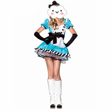 Sexy Halloween Maid Costumes Womens Adult Alice in Wonderland Costume Maids Lolita Fancy Dress Cosplay Costume for Women Girl