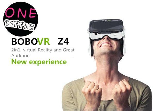 Original  BOBOVR Z4 Virtual Reality 3D VR Glasses google cardboard BOBO VR box with headphone for 4.0-6.0 inch cellphone