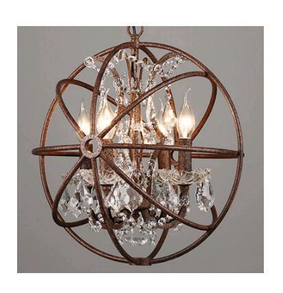 Lampes de pendentif LED rétro industrielles américaines luminaires en cristal lampe pendante Loft moderne Bar en métal Restaurant E14 Socket