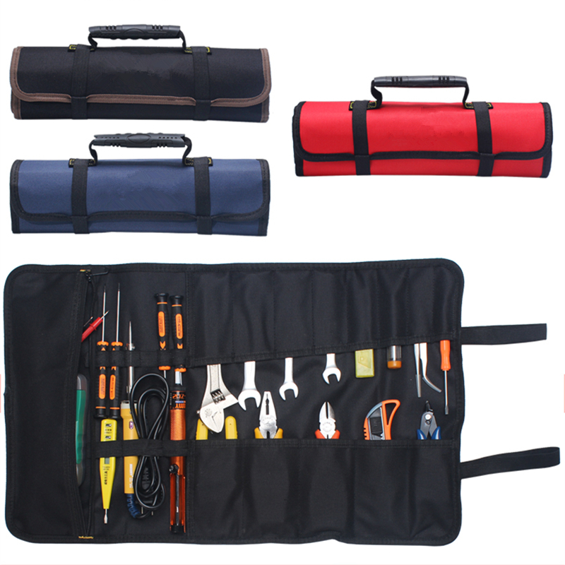 Oxford Canvas Car Tools Bag for Auto Repair Portable Trunk Organizer Tool Storage Box with Handle Durable Installation Bag wholesale 1pcs lot oxford cloth durable portable tools container storage bag electrical tools bag 61001