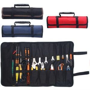 Image 1 - Oxford tuval araba araçları çantası oto tamir için taşınabilir bagaj organizatörü araç saklama kutusu kolu dayanıklı kurulum çantası