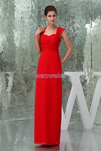 free shipping 2013 zuhair murad design quality formal gown Custom size/color bridal dress chiffon sexy red long evening