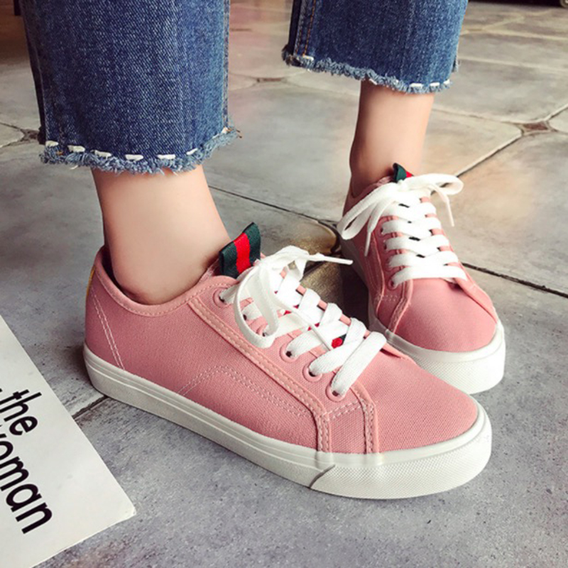 WAWFROK Women Casual Shoes Summer 2018 Spring Women Flats Canvas Shoes Fashion Breathable Vulcanization Sneakers