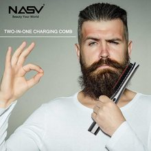 Mini Beard Straightener Brush, USB Rechargeable Portable Cordless Hair&beard Straightening Brush Styling Accessory For Travel