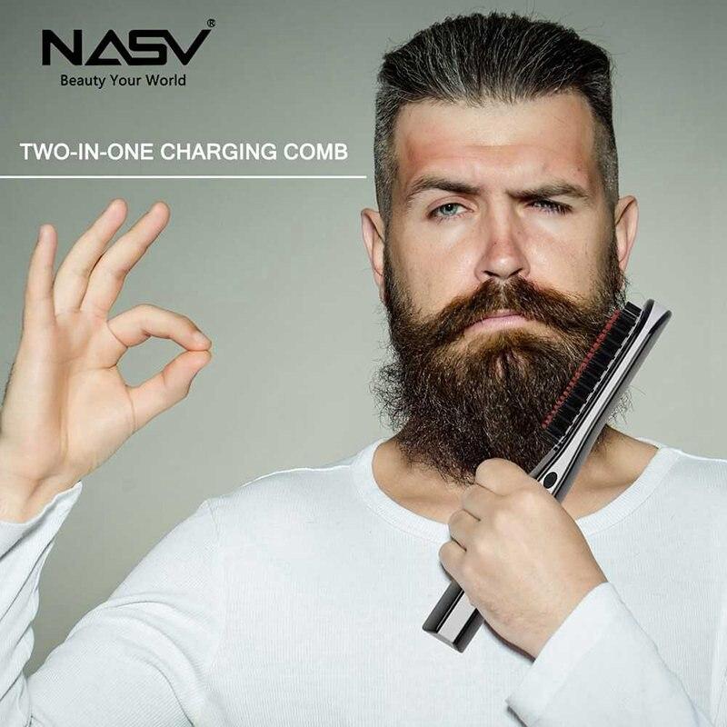 Sans fil USB cheveux lisseur brosse batterie Rechargeable LCD Portable électrique droite MINI peigne à cheveux outils de coiffure