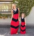 Мать Дочь платья волна полосатый мама и дочь платье шеврон макси мать дочь соответствующие одежда семья посмотрите