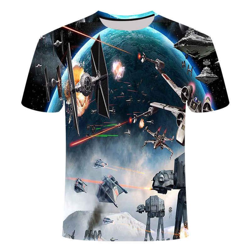 T shirtNew yüksek kaliteli erkek t-shirt Yıldız Savaşları karikatür kostümleri film t-shirt harajuku yetişkin darth vader komik erkek t-shirt