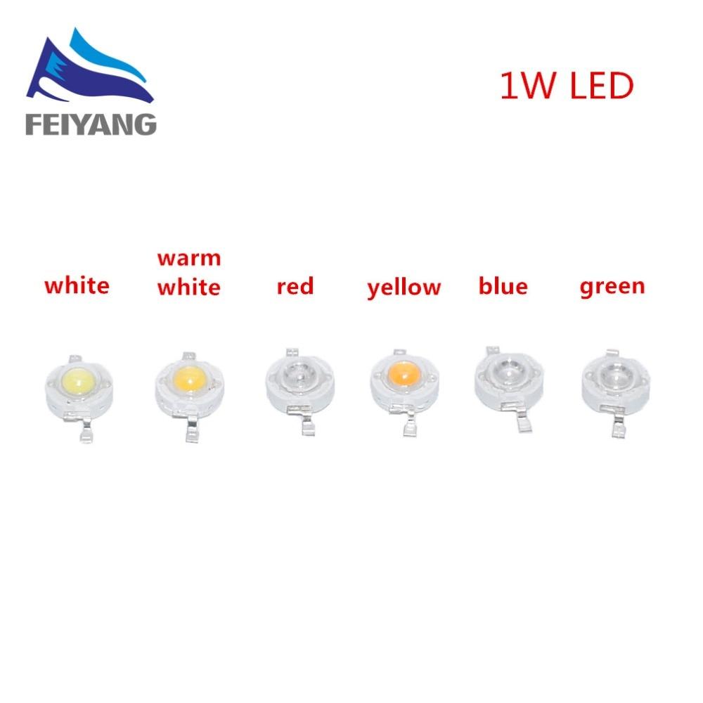 1000pcs 1W LED High power Lamp beads Pure White Warm White 300mA 3 2 3 4V