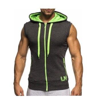 Neue 2017 Fashion Men Casual Slim Fit Basic Kapuzen-t-shirt Jacke Weste Weste Reißverschluss Hoodies aktiv Sweatshirt 5 Farben