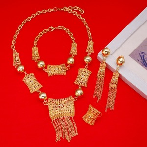Image 4 - جديد وصول الأفريقية دبي الذهب العروس مجوهرات مجموعة 24 كيلو الذهب الاثيوبية الأوسط الفصح الهند كينيا المجوهرات مجموعة