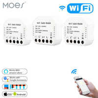 Wifi Smart Light Switch Diy Breaker Module Smart Life/Tuya APP Remote Control,Works with Alexa Echo Google Home 1/2 Way