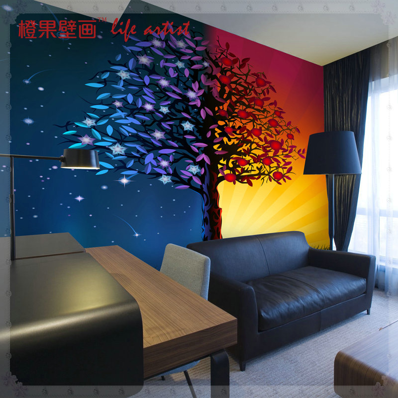 3d grandes murales abstractos tree wallpaper revestimiento for Murales para pared