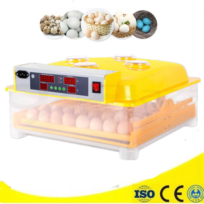 Mini 48 eggs incubator electric automatic digital clear hatcher best price quail egg incubator chick brooder цена