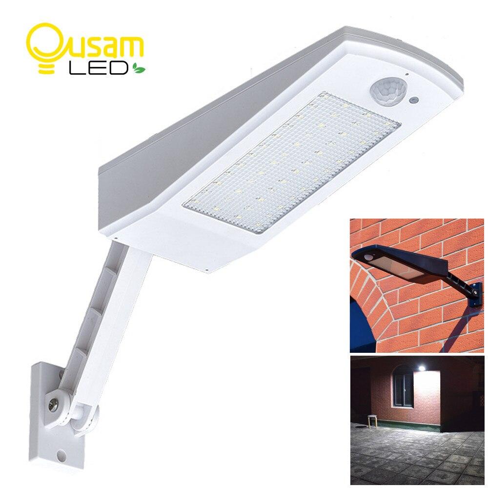 Più nuovo Disegno Luce Solare 48 LED 900LM 4500 mAh Auto PIR Motion Sensor Giardino Lampada Da Parete Solare Per Esterno Impermeabile illuminazione