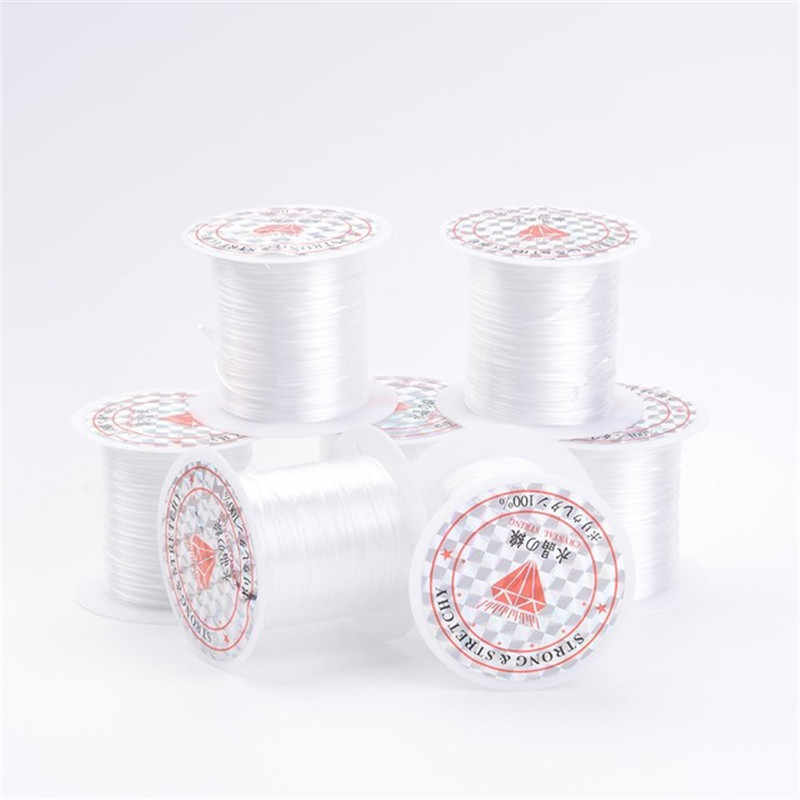 1 Roll 10M Elastic Rope For Diy Bracelet Necklace Jewelry Making White Black Color Transparent Cord Wholesale Wire