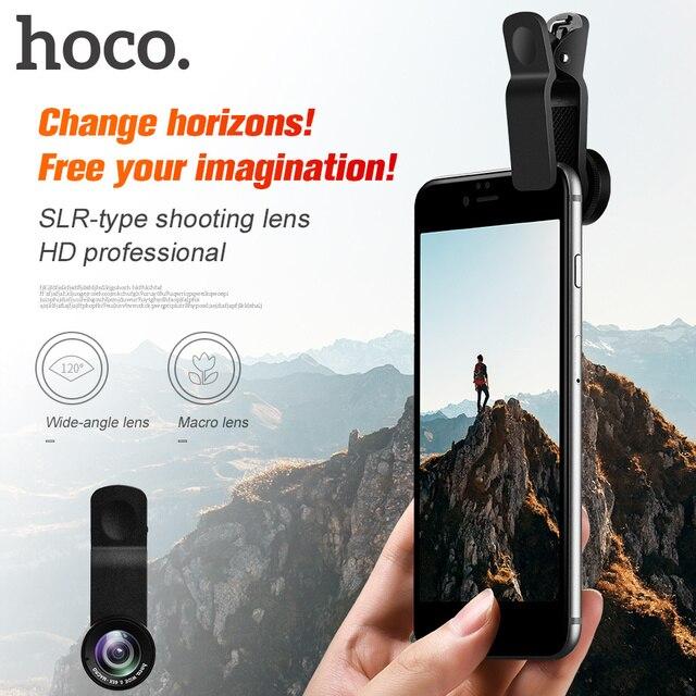 831e11cb78dbb0 HOCO Cell Phones Camera Lens Clip 2 in 1 Kit Wide Angle 0.65 Macro Zoom 10X
