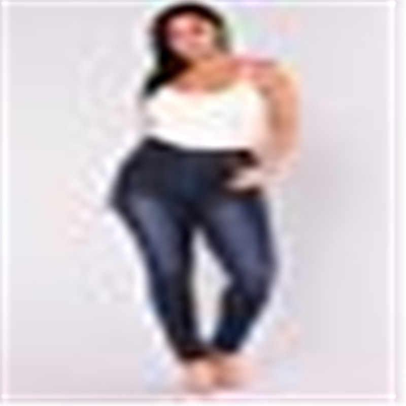 브랜드 뉴 봄 여름 여성 그라디언트 데님 청바지 탄성 높은 허리 바지 숙녀 연필 청바지 Streetwear 플러스 크기