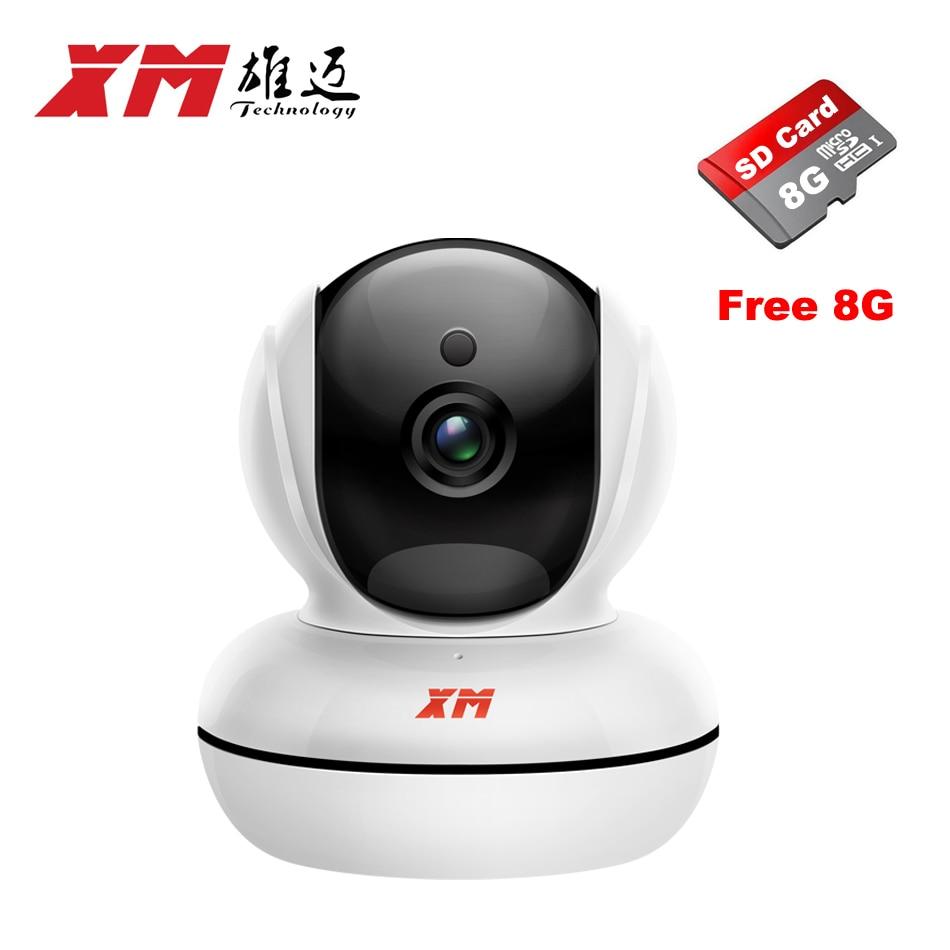 Fine WIFI 1920*1080P 2.0MP IP Camera+8GB SD Card Pan/Tilt Night Vision Security Camera P2P CCTV Cam with IR-Cut