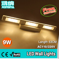 Free Shipping AC110V-240V 9W LED Wall Mirror Lights 53CM Wall Lamp Warm White 3000K Cold White 6500K