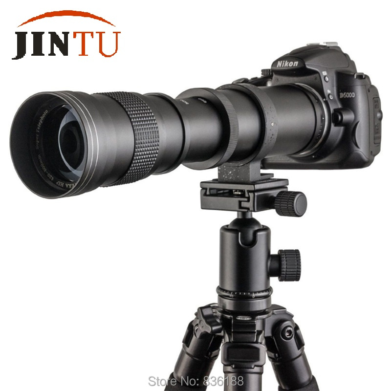 JINTU 420-800mm F/8.3-16 Top téléobjectif Kit de lentille de mise au point manuelle pour Canon EOS M EF-M monture M10 M50 M100 M5 caméra télescope photo