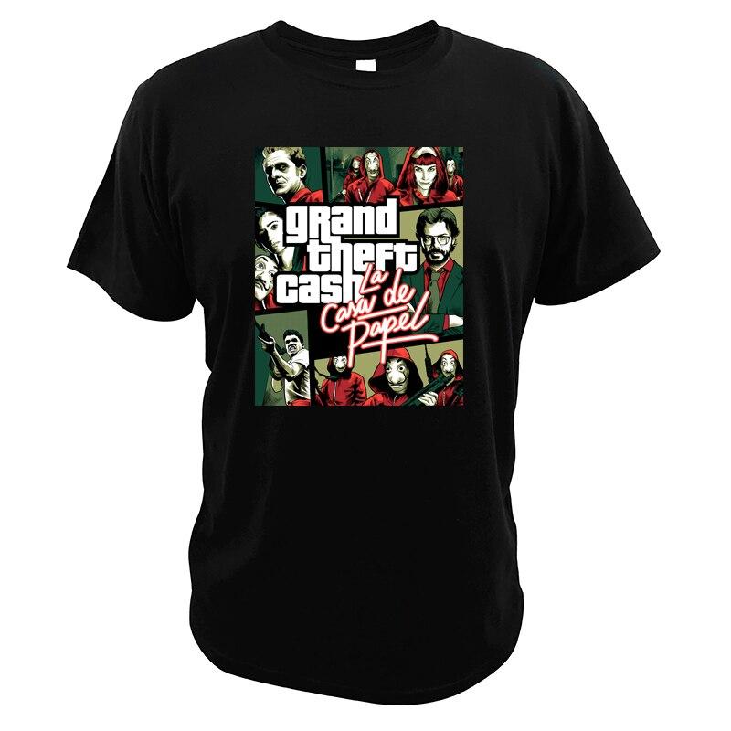 Casa De Papel Tshirt La Casa de Papel Spainish Drama Criminal Dinheiro Assalto Ciao Bella Grand Theft Dinheiro T-shirt