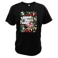 Casa Di Carta Tshirt La Casa De Papel Spainish Criminale Dramma Soldi Rapina Bella Ciao Grand Theft Contanti T-Shirt